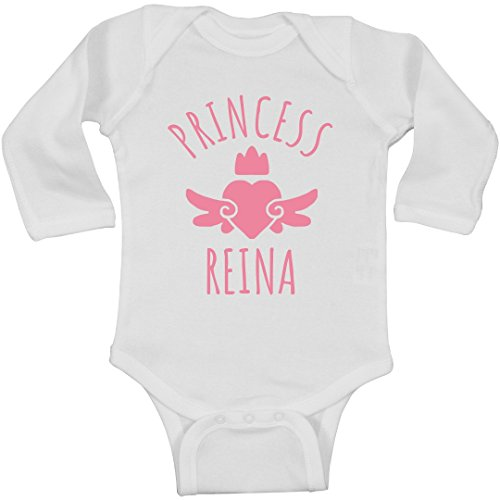 FUNNYSHIRTS.ORG Cute Princess Reina Heart Onesie: Infant Long Sleeve Bodysuit
