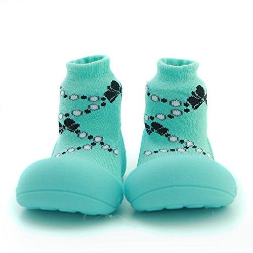 attipas Francés Pearl Verde Bebé Walker–Zapatos de bebé Zapatos Zapatillas verde verde Talla:22.5
