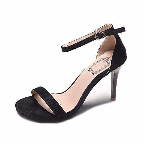 toe suede In stile tacco europeo sandali alto lady YMFIE scarpe c ammenda toe semplice moda RYP1qH