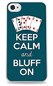 Keep Calm And Bluff On Texas Holdem Poker iPhone 6 Plus White Hardshell Case