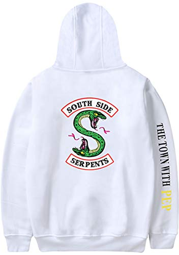 Riverdale Vallée Manches Side Emilyle Serpent South Sweat Homme Blanc Longues Pull OcWcf7qTU