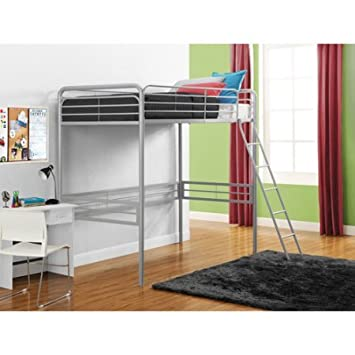 Amazon Com Metal Twin Loft Bed Kid S Room Furniture Bedding