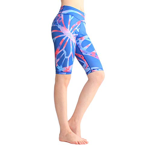 SOUTEAM Women Yoga Casual Printed Kneeth Shorts Teen Girls Athletic Fitness Knee Length Printed Pocket Leggings, Printed Insect,L ()
