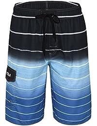 Men's Beachwear Quick Dry Striped Board Shorts
