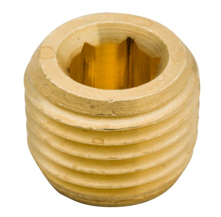 Legines Brass Pipe Fitting, Hex Drive Countersunk Plug, Internal Hex Socket Plug, 1/4