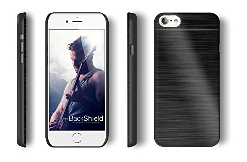 vau BackShield - black metall - Hülle Case mit Metallapplikation für iPhone 6 PLUS
