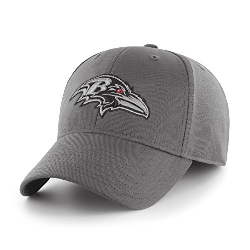 - OTS NFL Baltimore Ravens Comer Center Stretch Fit Hat, Charcoal, Large/X-Large