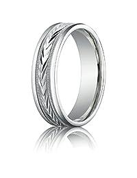 Benchmark® 6mm Comfort-fit Harvest Of Love Round Edge Carved Design Band