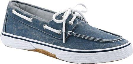 Sperry Men's Halyard 2-Eye Boat Shoe Salt Wash Stellar Canvas discount great deals sale very cheap ETQPHQQ9h