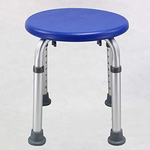 WSWJJXB Ajustable De Aluminio Antideslizante Silla De Bano Taburete De Bano (Color : Navy Blue)