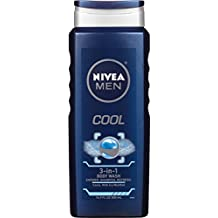 NIVEA Men Cool 3-in-1 Body Wash 16.9 Fluid Ounce (Pack of 3)