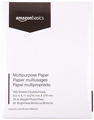 AmazonBasics 92 Bright Multipurpose Copy Paper - 8.5 x 11 Inches, 5 Ream Case (2,500 Sheets) Photo #3