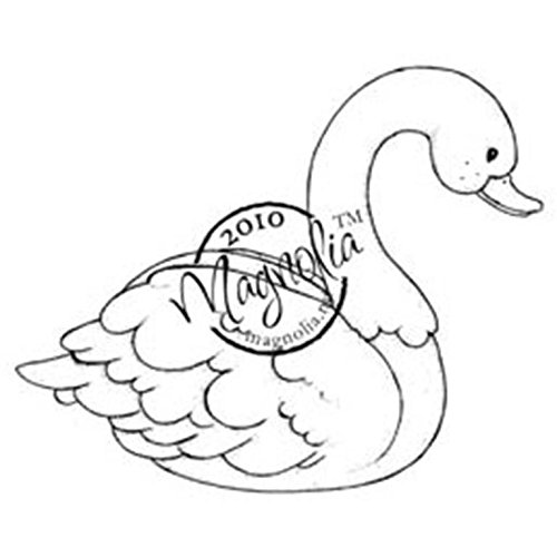 Magnolia Wedding Cling Stamp, 6.5 by 3.5-Inch, Wedding Swan