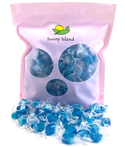 Sunny Island Bulk - Primrose Ice Blue Mint Squares, Individually Wrapped, Peppermint Flavor Cubes, 2 Pounds Bag