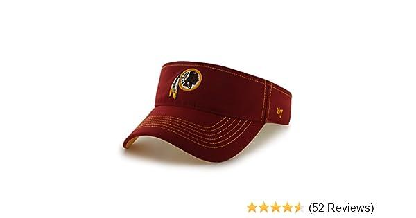 newest fe1f6 2abaa Amazon.com   NFL Washington Redskins  47 Brand Defiance Adjustable Visor, Razor  Red, One Size   Sports   Outdoors