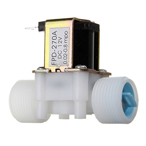 Corner Biz Bath - G3/4 12V PP Normally Closed Type Solenoid Valve Water Diverter Device