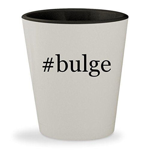 #bulge - Hashtag White Outer & Black Inner Ceramic 1.5oz Shot Glass