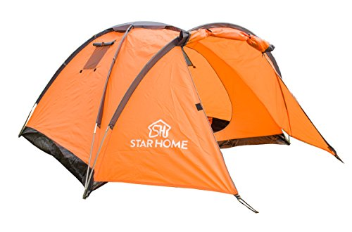 STARHOME 2 Person Outdoor Backpacking Tents Camping Lightweight Tents Color Orange