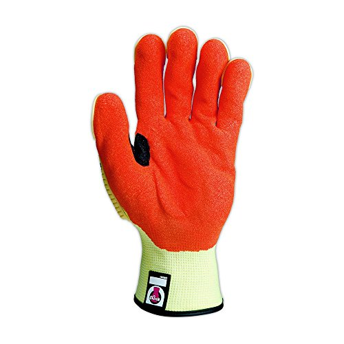 Magid Glove & Safety TRX540-XXXXL Magid T-REX TRX540 Impact Gloves - Cut Level A5, 8, Hi/Vis Yellow, 4XL by Magid Glove & Safety (Image #2)