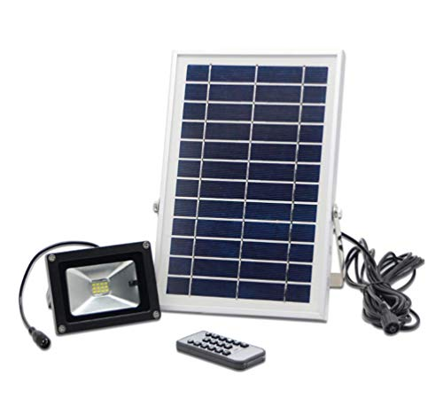 (BIU Solar Flood Light,120 LEDs Outdoor Security Wall Lights Waterproof Remote Controlled Light Control Can Be Timed Solar Spotlight for Garden, Patio, Yard, Pool,)