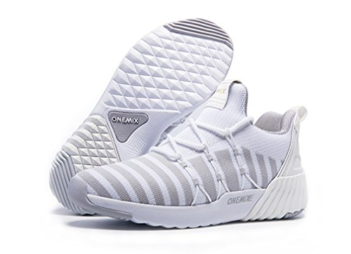 Blanc Onemix De Chaussures argenté Mixte Running Adulte r0w0qXxA1