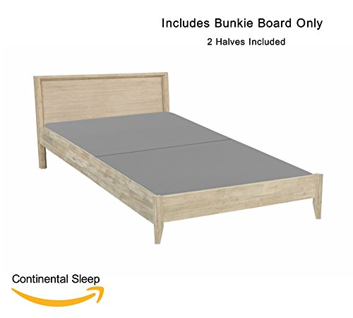 Bunk Bed Board (Continental Mattress, Fully Assembled Split Foundation Bunkie Board, |Twin Size| (2 halves Included))