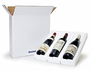 3 Bottle Wine Shipper - Styrofoam Cradle and Box