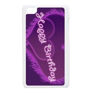 Purple Happy iPod Touch 4 Case White Bxhtz