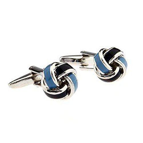 Light Blue Knot Cufflink - 8