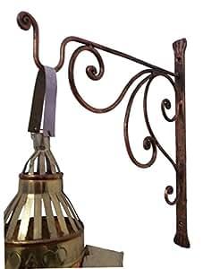 Egipto tiendas de regalos rústico Hierro forjado soporte de pared gancho de plantas cestas Lanterns metal Hanger Holder