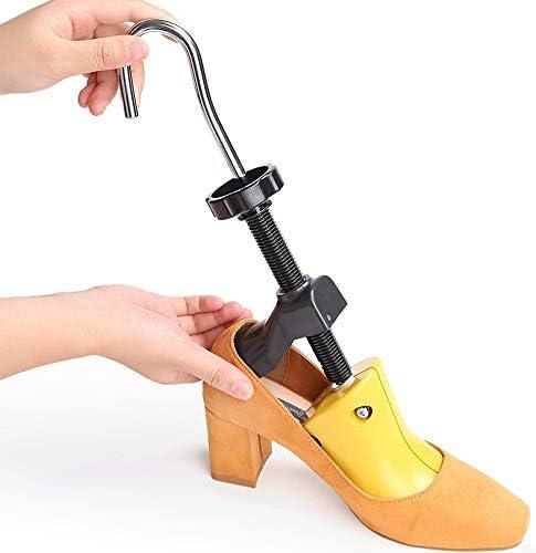 シューストレッチャー-シューズ ストレッチャー シューズストレッチャー シューストレッチャー シューツリー 調節可能な靴サポート しわ防止 アンプ 男女 ペア 黄色 (Size : Small size)