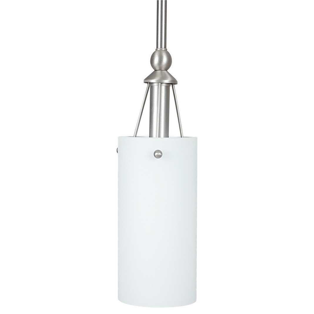 Sunset Lighting F9140-53 Pendant with Frosted White Shades, Satin Nickel Finish