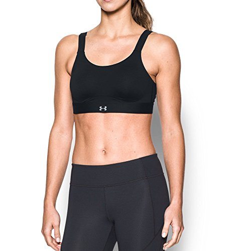 Under Armour Women's Armour Eclipse High Impact Sports Bra, Black/Black, 36A