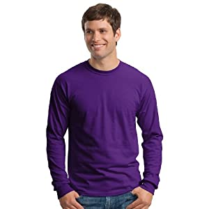 Gildan Ultra Cotton 6 Oz. Long-Sleeve T-Shirt (G240)- Purple,X-Large