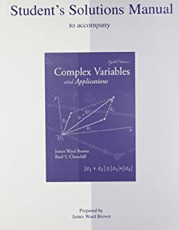 student s solutions manual to accompany complex variables and rh amazon ca Complex Dynamics Complex Logarithm