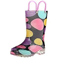 Western Chief Doodle Dots Light-Up Rain Boot(Infant/Toddler/Little Kid)