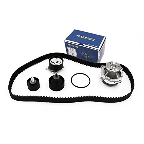 Timing Belt Water Pump Kit fits for 2000 2001 2002 2003 2004 Ford Focus, 2001-2004 Ford Escape, Mazda Tribute, 1999-2003 Ford Escort, 1999-2002 Mercury Cougar, 1999-2000 Ford Contour, Mercury Mystique