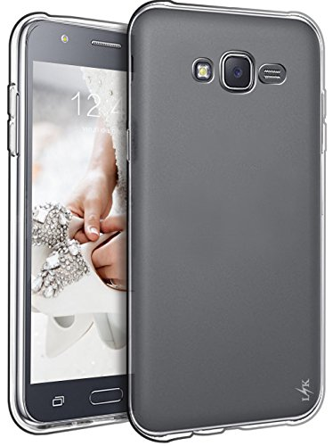 Ultra Clear Slim Case with Flip Cover for Samsung Galaxy J7 (Black) - 6
