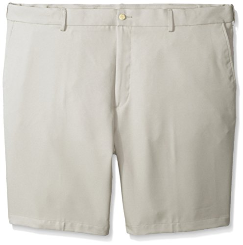 Pockets Tall Shorts Slant And Big (PGA TOUR Men's Big-Tall Golf Performance Flat Front Expandable Waistband Short, Silver Cloud, 50)