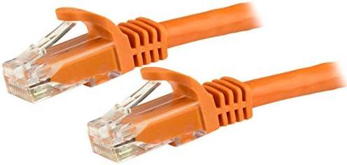 StarTech.com カテゴリ6 LANケーブル 15m オレンジ ツメ折れ防止RJ45コネクタ Cat6 UTPギガビットイーサネットケーブル N6PATC15MOR