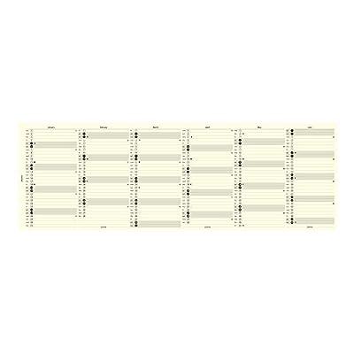 Filofax 2017 Personal/Compact Vertical Planner Refill, Cream Paper, 6.75 x 3.75 inches (C68408-17)