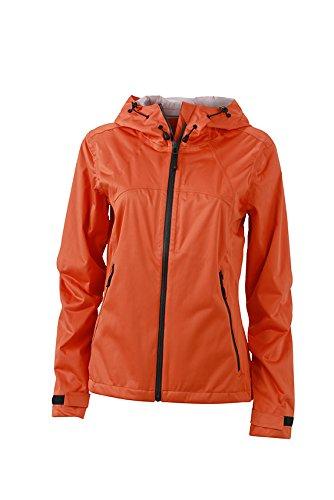 Dark-Orange Iron-gris L Veste Trekking randonnée Femme Softshell Ultra-légère Coupe-Vent imperméable