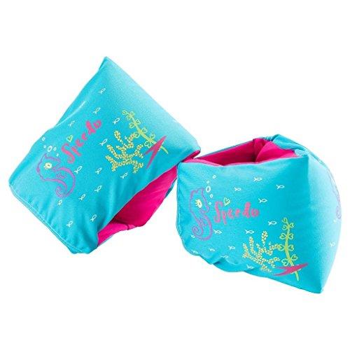 Speedo Girls Fabric Armbands - Aqua (Fabric Emporium)