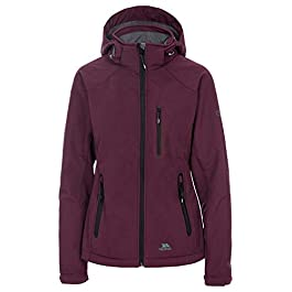 Trespass Women's Bela Ii Waterproof Soft-shell Jacket With Removable Hood