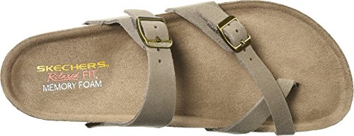 Skechers Women's Granola-Opt Out-Double Buckle Toe Thong Slide Flip-Flop, Taupe, 5 M US by Skechers (Image #1)
