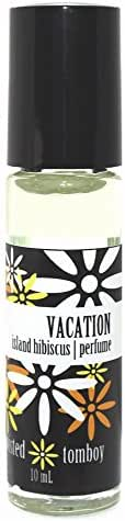 'Vacation' - Island Hibiscus Roll-On Perfume (Coconut Oil + Fragrance. That's It! Natural & Long Lasting Perfume) Pefect Size For The 'Girl On The Go' To Stick In Your Purse, Gym Bag, Backpack, etc