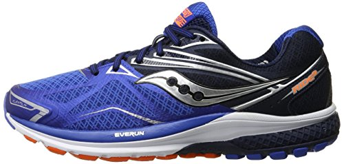 SAUCONY RIDE 9 MENS (7 USA - 40 EUR) (GREY/BLUE/ORANGE)