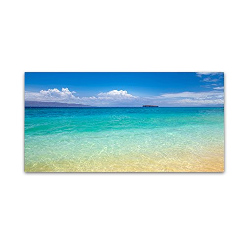 Blue Beach Maui by Pierre Leclerc, 24x47-Inch Canvas Wall ()