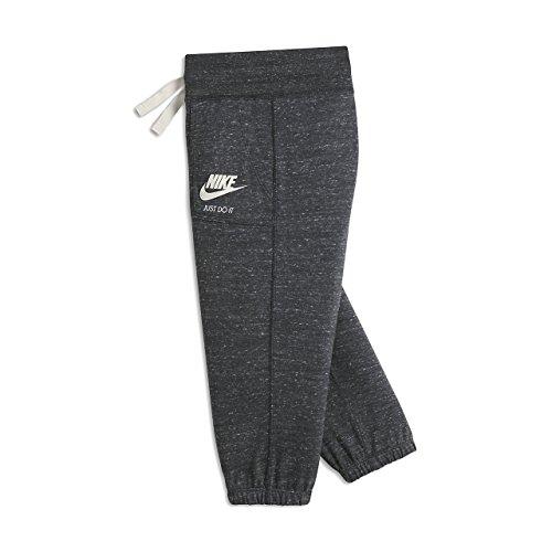 Girls Nike Sportswear Gym Vintage Knit Capri Sweatpants (LG (14 Big Kids), Anthracite/Sail)