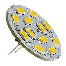 SS- G4 6W 550-570LM 2700-3000K Warm White Light Vertical Pin LED Spot Bulb (12V)